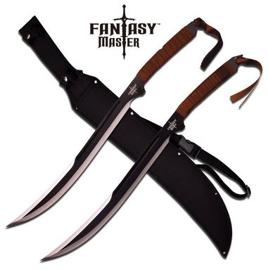 Fantasy Master 049BK Double Fantasy Swords - Brown (Online Only)