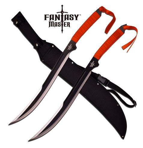 Fantasy Master 049SB Double Fantasy Swords - Red (Online Only)