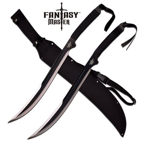 Fantasy Master 049SL Double Fantasy Swords - Black (Online Only)