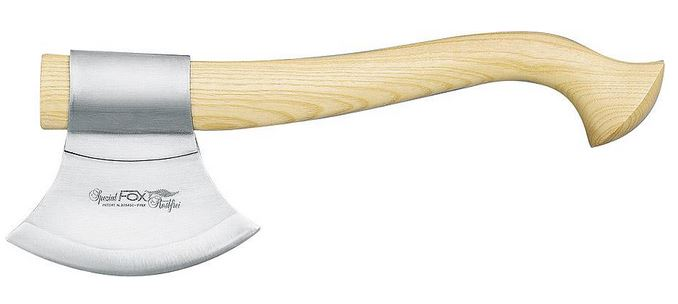 Fox Italy FX-682 Hunters Trekking Axe - Light Sassafrass Wood