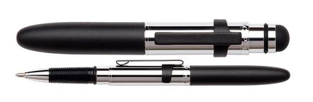Fisher Space Pen Bullet Grip Chrome w/ Stylus & Black Clip