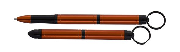 Fisher Space Pen Tough Touch Keychain Pen w/ Stylus - Orange