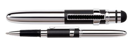 Fisher Space Pen Bullet Grip Chrome w/ Stylus & Chrome Clip