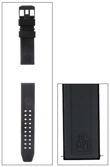 Luminox FP.L.3050.20.BPL Strap PU Black - 23mm