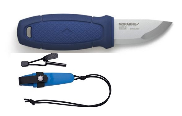 Mora Eldris Mini Fixed Knife with Neck Kit - Blue (Online)