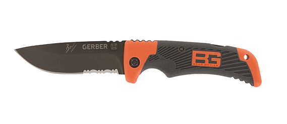 Gerber Bear Grylls Survival Scout Folder, Serrated (Online Only)