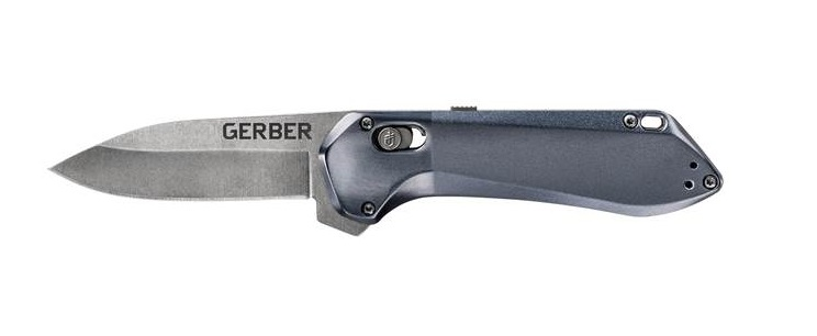 Gerber Highbrow Compact Plain Edge Assisted Open- Urban Blue (Online)