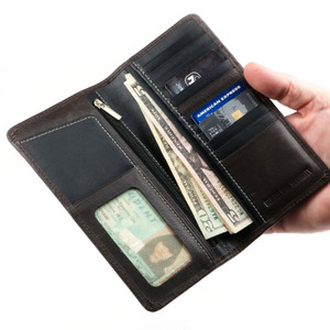 Guard Dog 6417 RFID Full Length Leather Wallet - Black