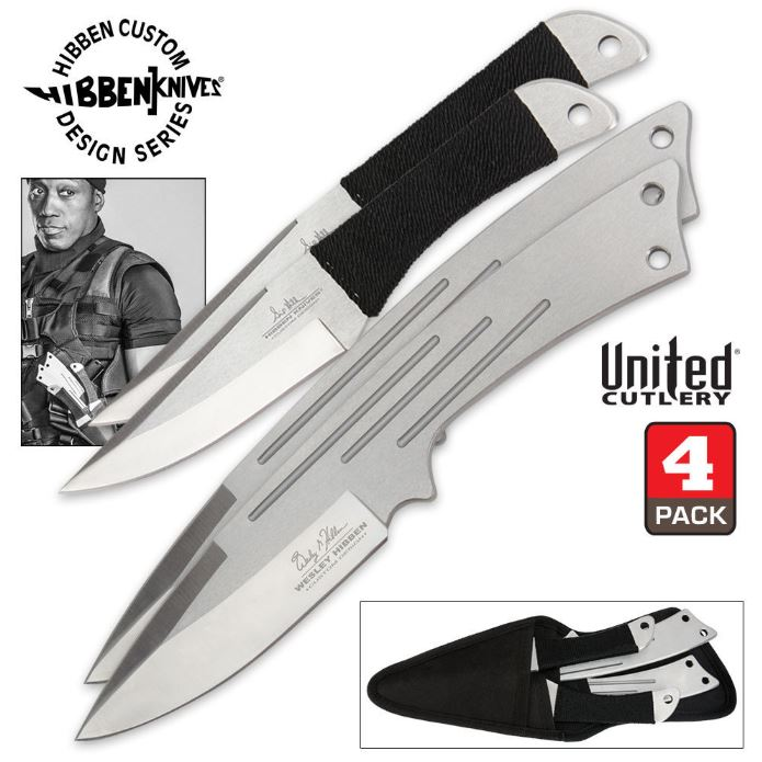United GH5046 Hibben Legacy Four Throwing Knife Set (Online Only
