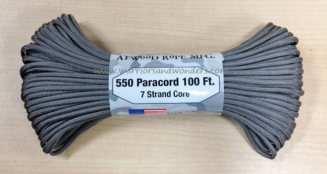 550 Paracord, 100Ft. - Graphite