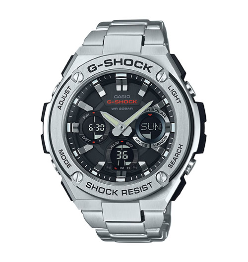 G Shock GSTS110D-1A G-Steel Series - Solar Power
