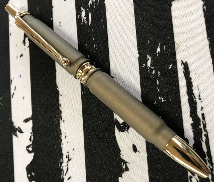 High Caliber Click Bullet Pen Burnt Bronze - Gold