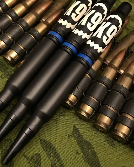 High Caliber 308 K9 Thin Blue Line Pen