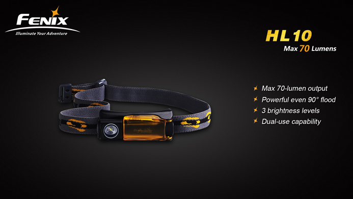 Fenix HL10 Headlamp (70 Lumens)