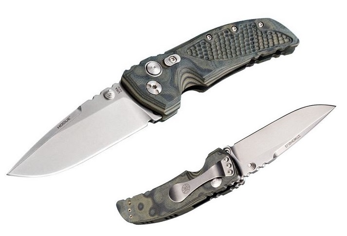 "Hogue EX-01 Drop Point 3.5"" Green G-10 G-Mascus"