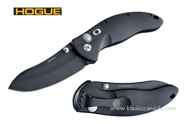 "Hogue 34470 EX-04 Upswept 3.5"" Folder 154CM Black (Online Only)"