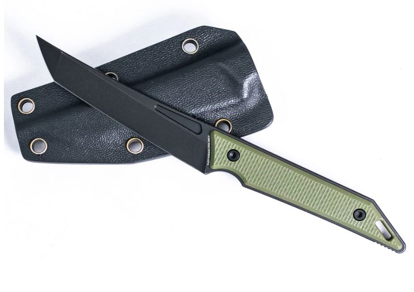 Hoback Goliath Pocket Fixed Blade CPM-20CV Black Stonewash OD G10
