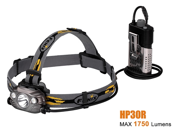 Fenix HP30R Rechargeable Headlight Black - 1750 Lumens