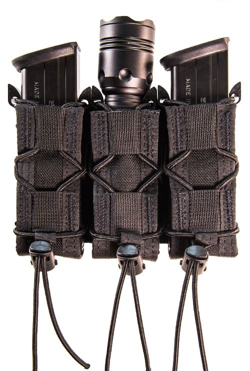 High Speed Gear 11PT03BK Triple Pistol Taco - MOLLE - Black