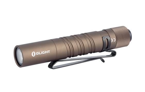Olight I3T EOS Desert Tan Pocket Flashlight - 180 Lumens