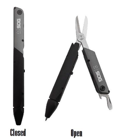 SOG Baton Q1 Multi Tool With Pen