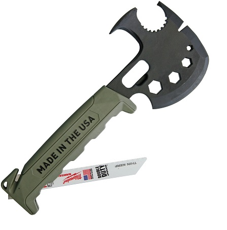 Off Grid Tools 'Lil Trucker' Survival Axe Elite - Green