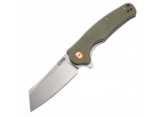 CJRB Knives Crag Flipper Folding Knife, D2, Green G10, J1904GNF