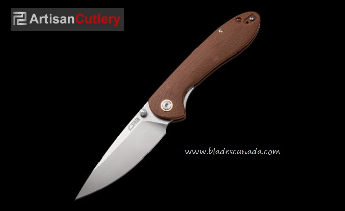 CJRB Knives Feldspar Folder, D2 Steel, G10 Brown, J1912BNC
