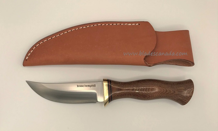 Jesse Hemphill High Falls II A2 Natural Canvas Micarta JH004N