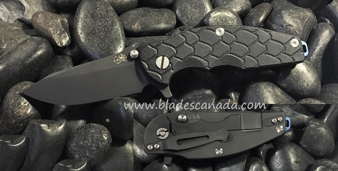 Hinderer Jurassic Folder Spear Point Black - Black G10 (Online)