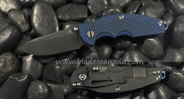 Hinderer Jurassic Folder Spear Point Black, Blue/Black (Online)