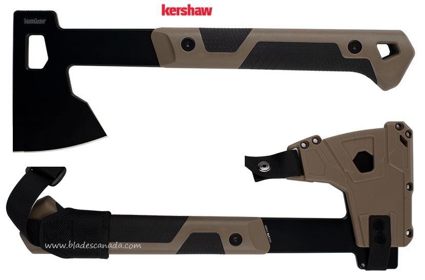 Kershaw Deschutes axe w/Sheath & Shoulder Strap, K1075