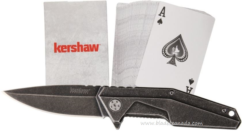 Kershaw Starter Series Assisted Folder w/ Kershaw Playing Cards