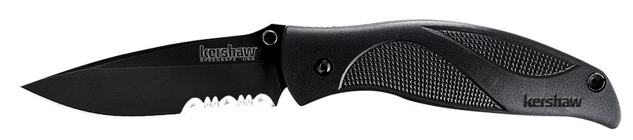 Kershaw 1550ST Blackout Serrated Edge Assisted Opening