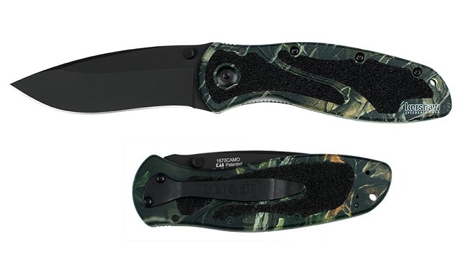 Kershaw 1670CAMO Blur Black Blade Camo Handle Assisted Open