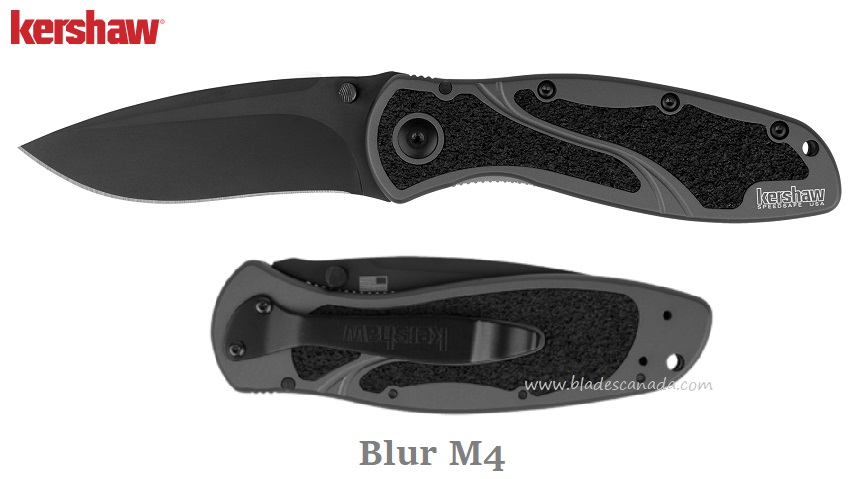 Kershaw Blur Gray/Black, M4 Steel, Assisted Opening, K1670GRYBLK