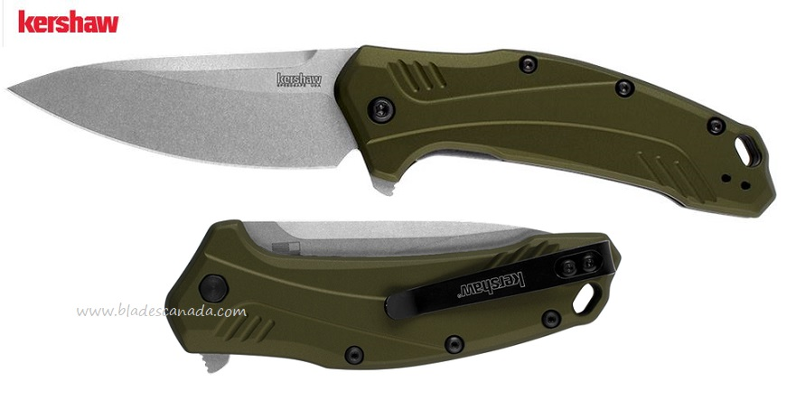 Kershaw Link, 20CV Steel Olive, Assisted Opening K1776OLSW