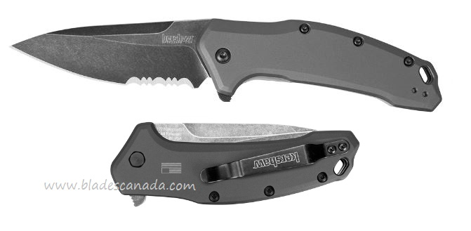 Kershaw Link Blackwash Serrated Assisted Opening K1776GRYBWST