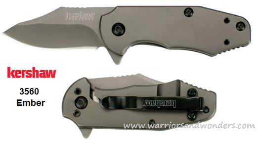 Kershaw 3560 Ember Flipper Folder Framelock Assisted Opening
