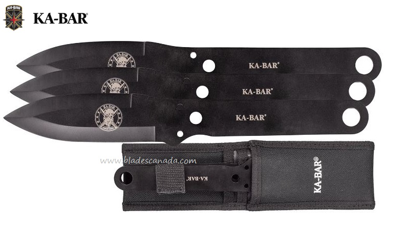 Ka-Bar Triple Throwing Knife Set w/Sheath KA1121