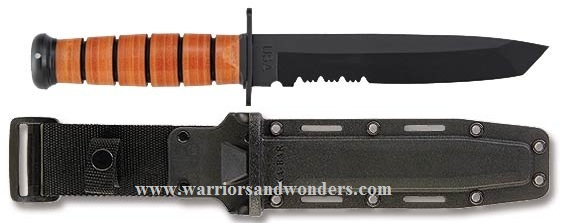 Ka-Bar 1265 Tanto w/Serration w/Hard Sheath