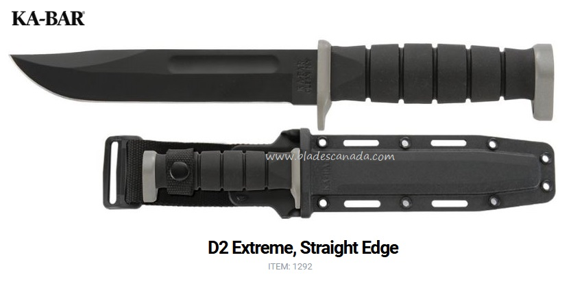 Ka-Bar D2 Extreme Straight Edge KA1292