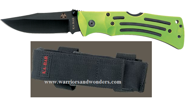 Ka-Bar 3058 Zombie Mulle Folder Plain Edge