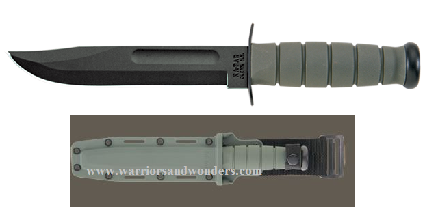Ka-Bar 5011 Foliage Green Fighting Plain Edge w/ Hard Sheath