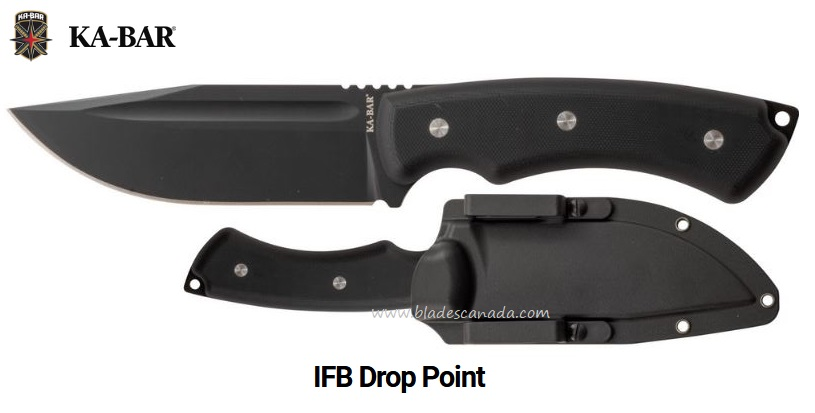 Ka-Bar Knives IFB Drop Point, w/Hard MOLLE Cpmpatible Sheath, Ka5350