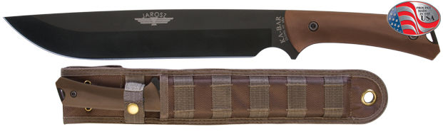 Ka-Bar 7507 Jarosz Choppa, 1095 Blade, MOLLE Sheath