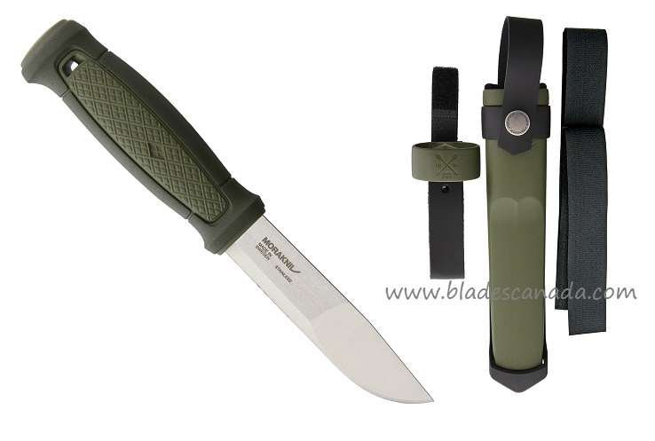Mora Kansbol Outdoor Knife w/ Multi Mount Sheath - OD Green