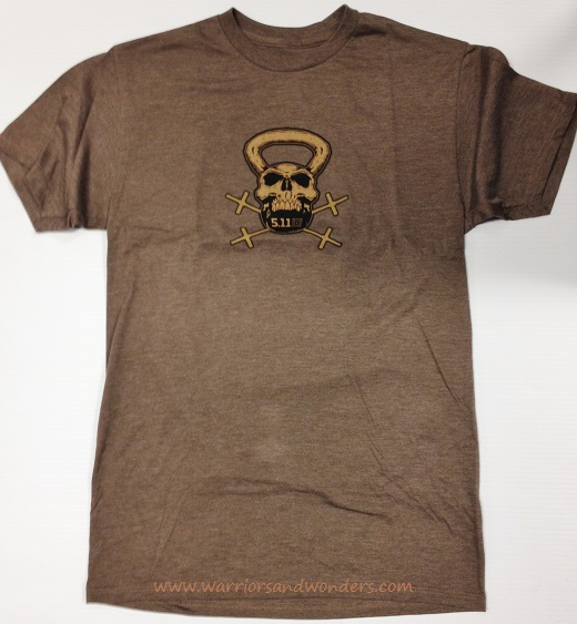 5.11 RECON Kettle Skull T-Shirt - Brown Heather