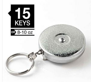 "Key-Bak Original Chrome 24"" Stainless Chain w/ Belt Clip"