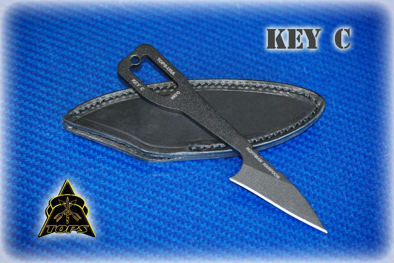TOPS Key C w/Leather Sheath